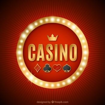 punataustainen casino kuvituskuva